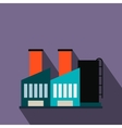Plant industrial building flat icon vector image