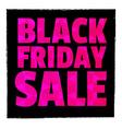 Poster SaleTypography Black friday vector image
