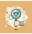 Search Engine Optimization thin line icon logo vector image