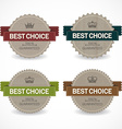 Set of sale badges vector image
