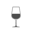 Wineglass with wine sign symbol icon vector image