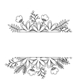 Isolated flowers decoration design vector image