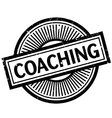 Coaching rubber stamp vector image vector image