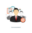 team management flat with icons vector image