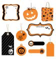 Halloween tags vector image vector image