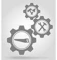 gear mechanism concept 15a vector image