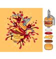 cheeseburger grenade vector image vector image