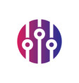 circle sound equalizer logo vector image