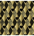 Gold pattern with rhombs and hearts vector image