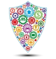 Insurance shield design concept vector image
