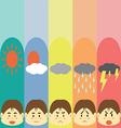 Moods Cute Pastel Man Flat Cartoon vector image