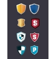 shield protection icons image vector image