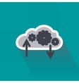 Digital data computing on cloud server vector image vector image