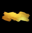 Gold foil stroke watercolor texture paint stain vector image