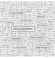 PHILOSOPHY vector image