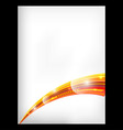 Abstract orange background with a curved element vector image vector image