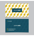 business card pattern yellow 09 vector image vector image
