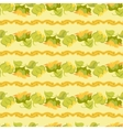 sunflower border seamless pattern on light yellow vector image