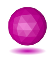 Abstract pink low polygonal sphere vector image