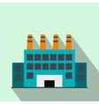 Industrial building flat icon vector image