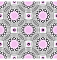 Abstract geometric background circles pink vector image