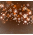 Brown Background With Snowflakes vector image