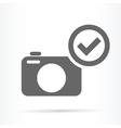 camera confirm symbol icon vector image