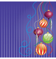 Card with glossy balls vector image