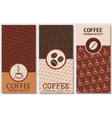 coffee card design vector image