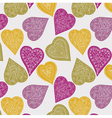 Love hearts wallpaper vector image