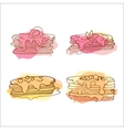 pancake Set of 4 hand drawn vector image