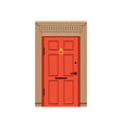 red front door to house closed elegant door vector image