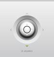 Joystick UI button design vector image