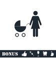 Maternity icon flat vector image