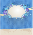 Blue vintage ragged paper background vector image vector image