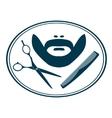 Hairdresser barber label vector image vector image