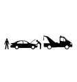 Car breakdown vector image vector image