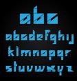 origami alphabet on black background vector image