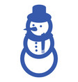 blue snowman icon vector image