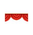 detailed red silk or velvet pelmets for theater vector image