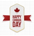 Happy Canada Day greeting Label vector image