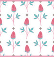 lovely hand-drawn flower seamless pattern vector image