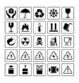 Packaging symbols set vector image