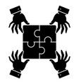 puzzle pieces - strategy icon vector image