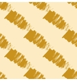 Seamless pattern with gold brush strokes vector image