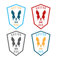 set labels with boston terrier Emblem for the vector image