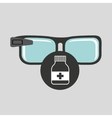 smart glasses connected bottle capsule vector image