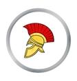 Roman soldier s helmet icon in cartoon style vector image