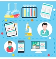 Online medical consultation and diagnosis vector image