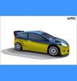 rally sport car vector image